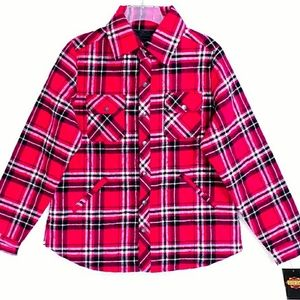 NWT Guide Gear Pink Flannel Plaid Quilted Jacket